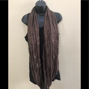 Accessories - 2/$10 Brown sequined infinity scarf